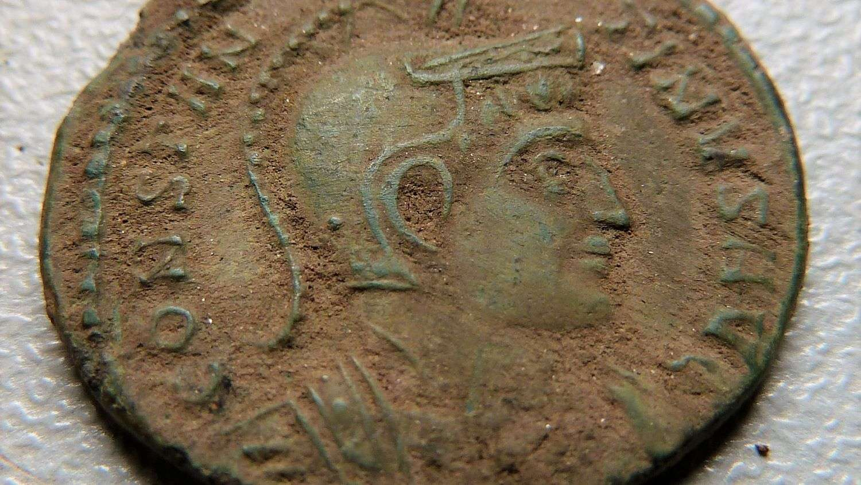 Roman bronze coin archaeology