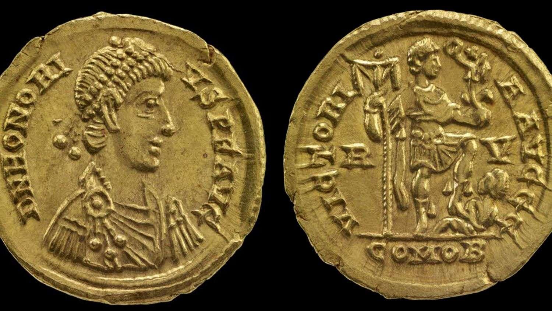 Gold solidus Honorius Hoxne Treasure